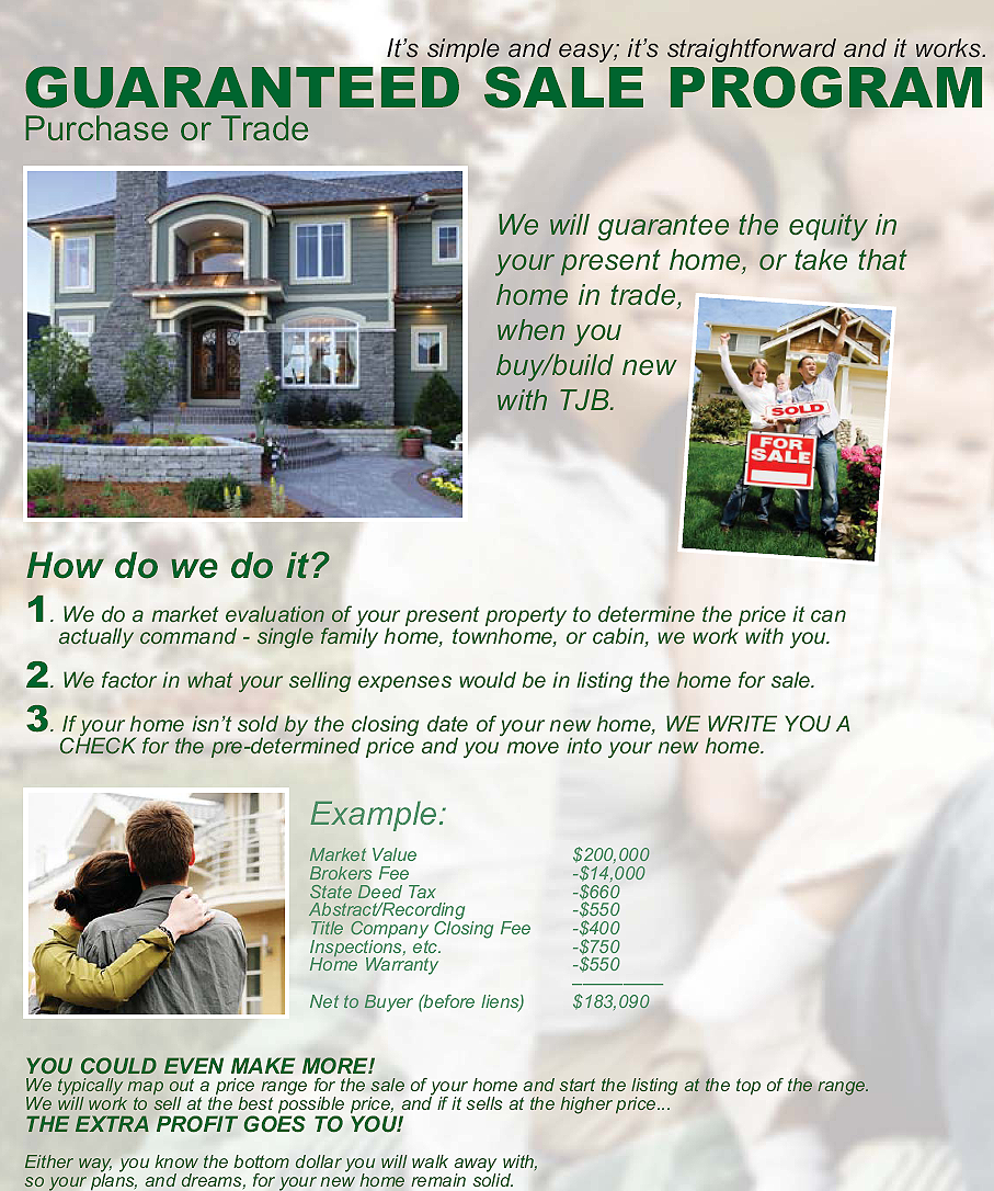 Guaranteed sale of your home