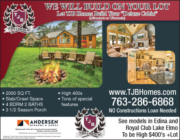 TJB Homes builds DELUXE Cabins on your lot!