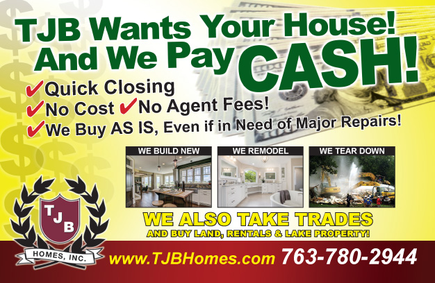 We buy homes and pay cash, quick closing, no cost, no agent fees, we buy as is...even if major repairs are needed!