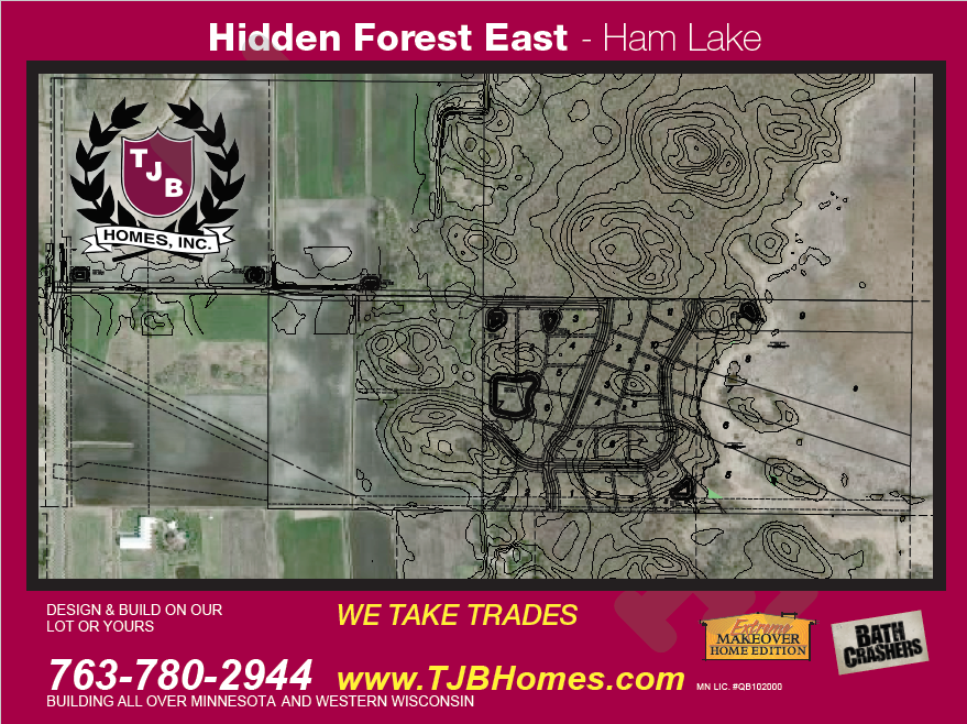 Ham Lake, homesites for sale