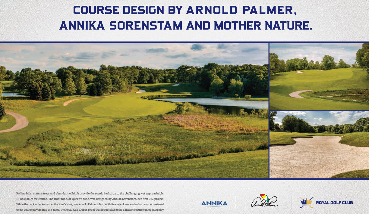 Course design by Arnold Palmer and Annika Sorenstam