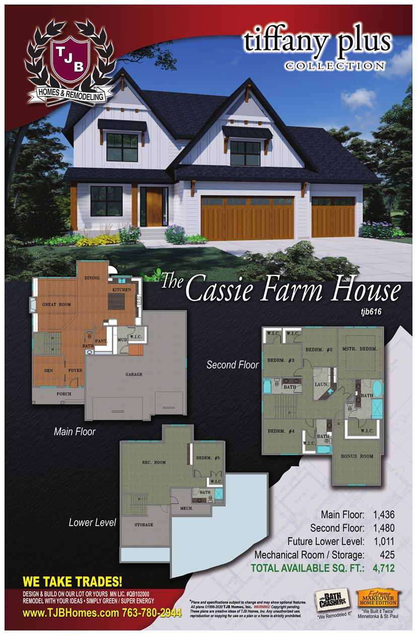 Cassie Home Plan #616 Color Rendering