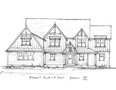 "Two Story Home Plan ""V"""