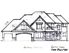 Two Story Home Plan North Oaks Plan #100