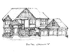 Two Story Home Plan North Oaks Plan #40
