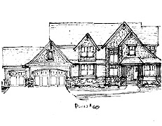 Two Story Home Plan North Oaks Plan #60