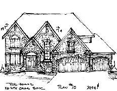 Two Story Home Plan North Oaks Plan #70
