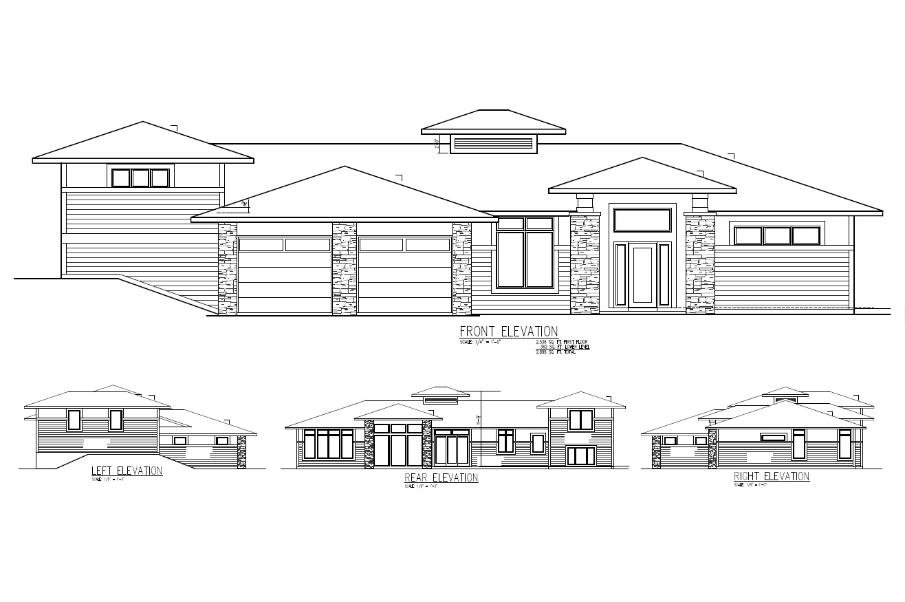 Home Plan Elevation Plans