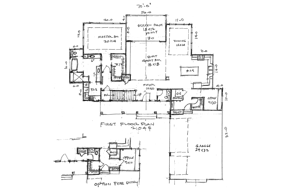 Home Plan Main Floor Plan