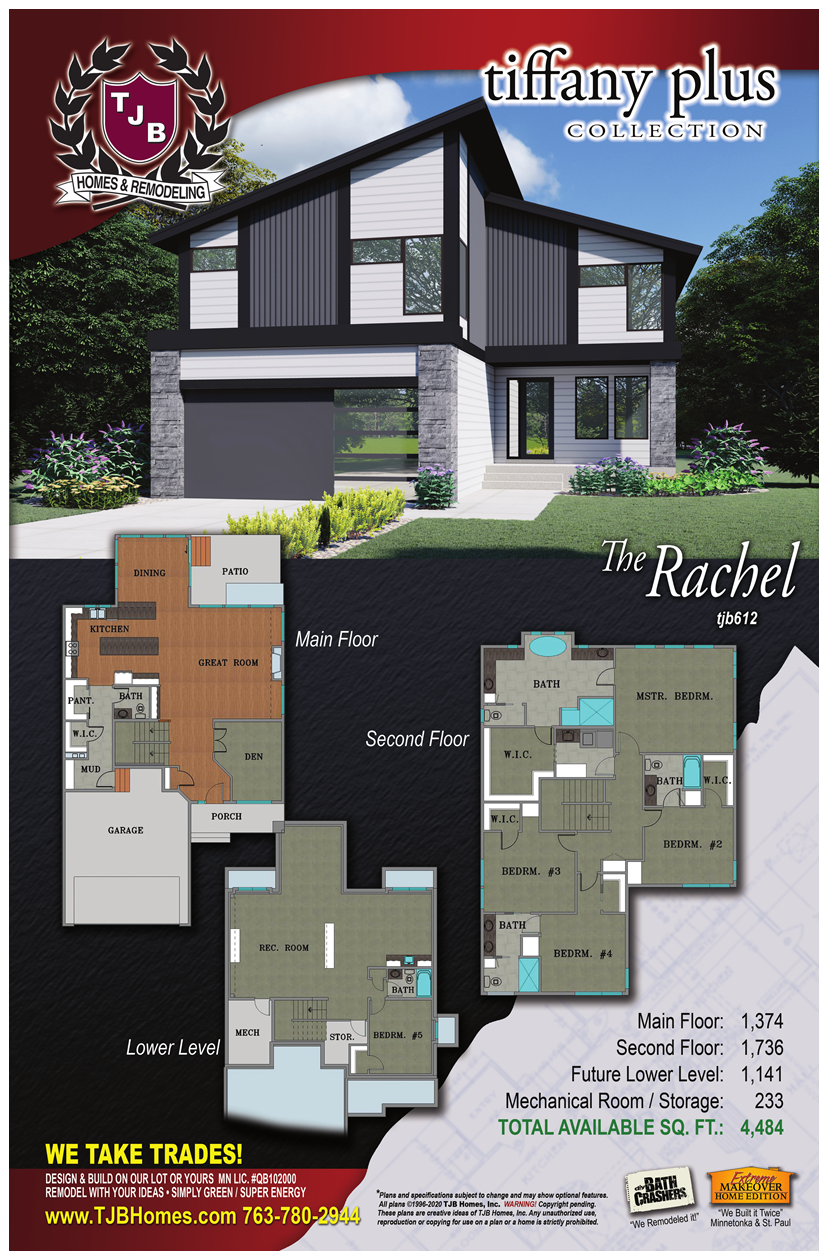 Rachel Home Plan Color Front Rendering