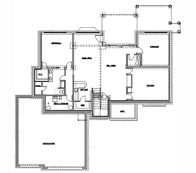 Home Plan Lower Floor Plan