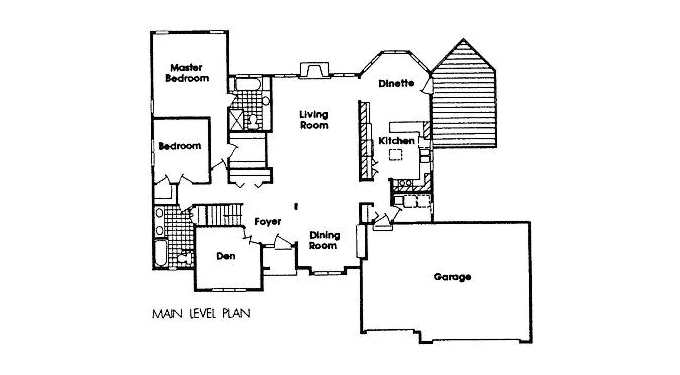 #870185 Home Plan Main Floor Plan