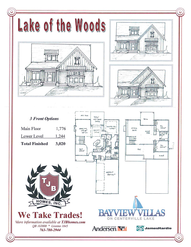 """Lake of the Woods"" Home Plan"
