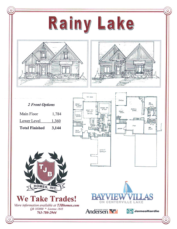 """Rainy Lake"" Home Plan"