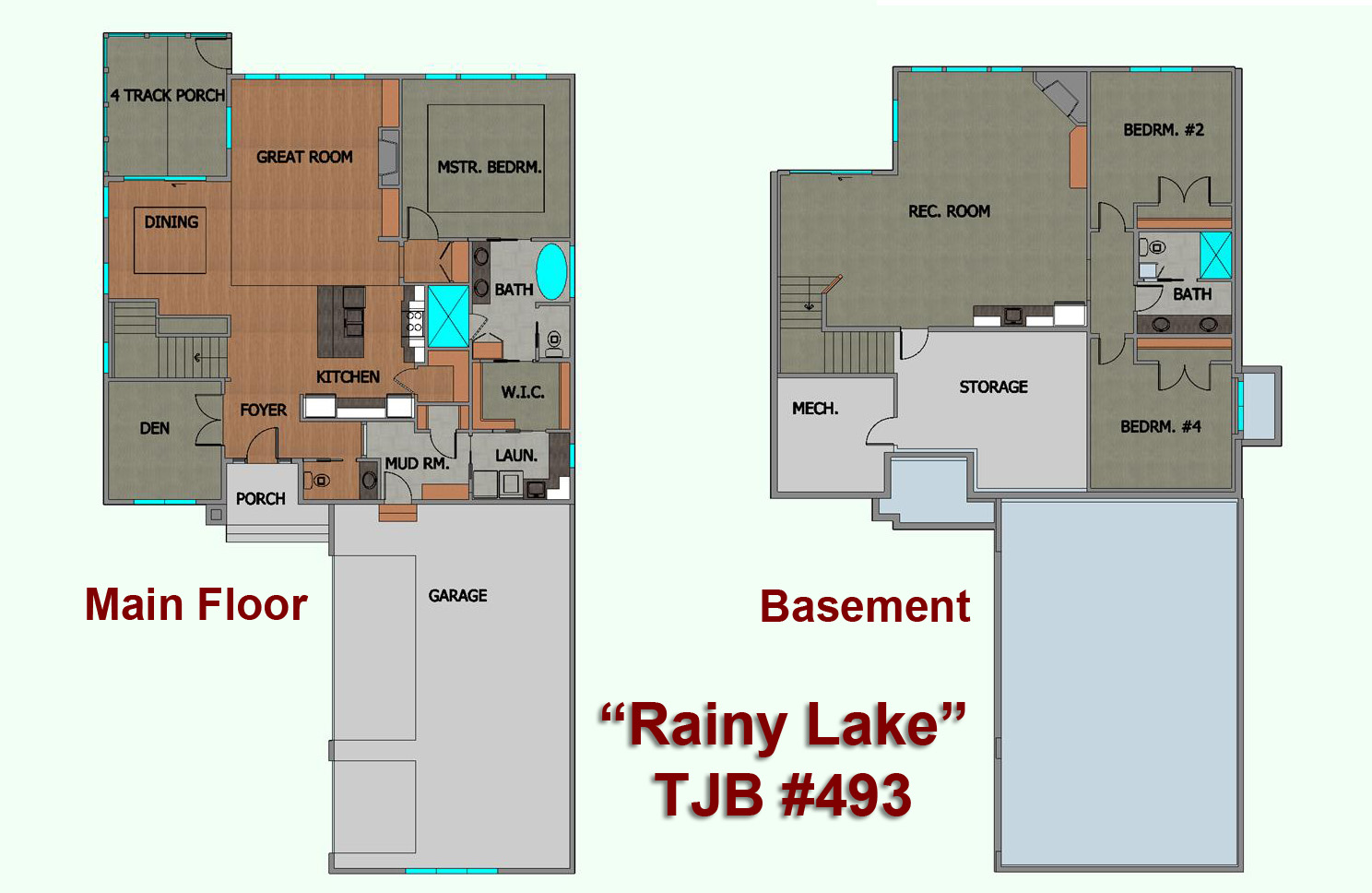 """Rainy Lake"" Home Plan Floor Plans"