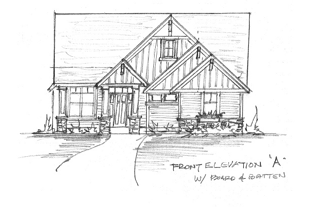 Home Plan Option A with Board & Batten