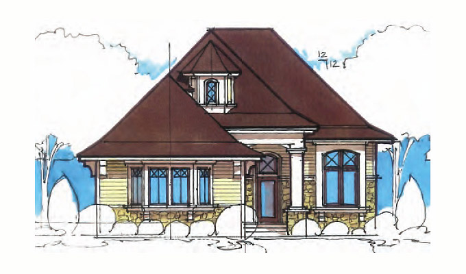 Home Plan Front Option B