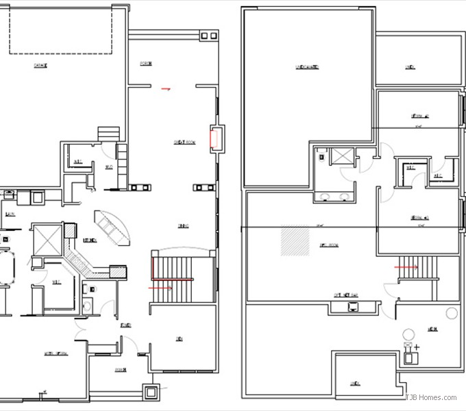 Home Plan Main and Lower Floor Plan