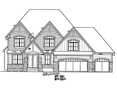 Sport Court Home Plan TJB #393 Alternate