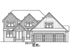 Sport Court Home Plan TJB #393