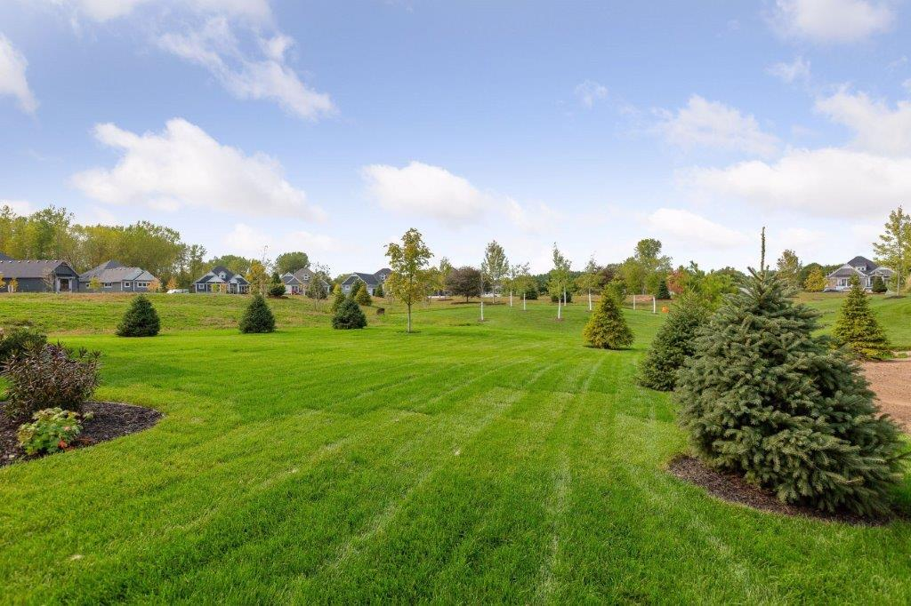 Large 0.35-acre lot all maintained by the association