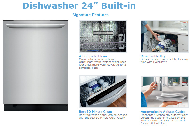 Stainless Steel 24″ Built-In Dishwasher