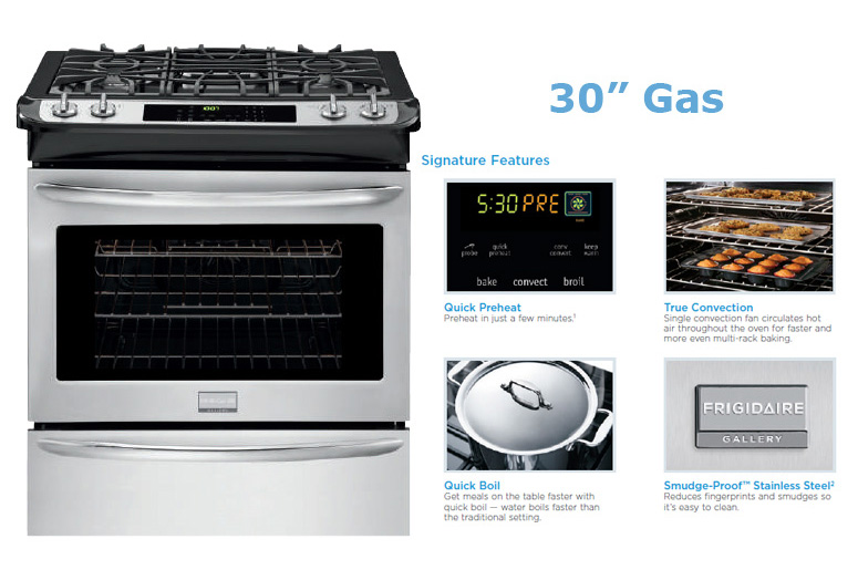 Stainless Steel 30″ Gas Stove