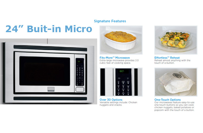 Stainless Steel 24″ Built-In Microwave