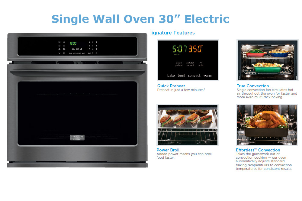 Stainless Steel 30″ Single Wall Oven