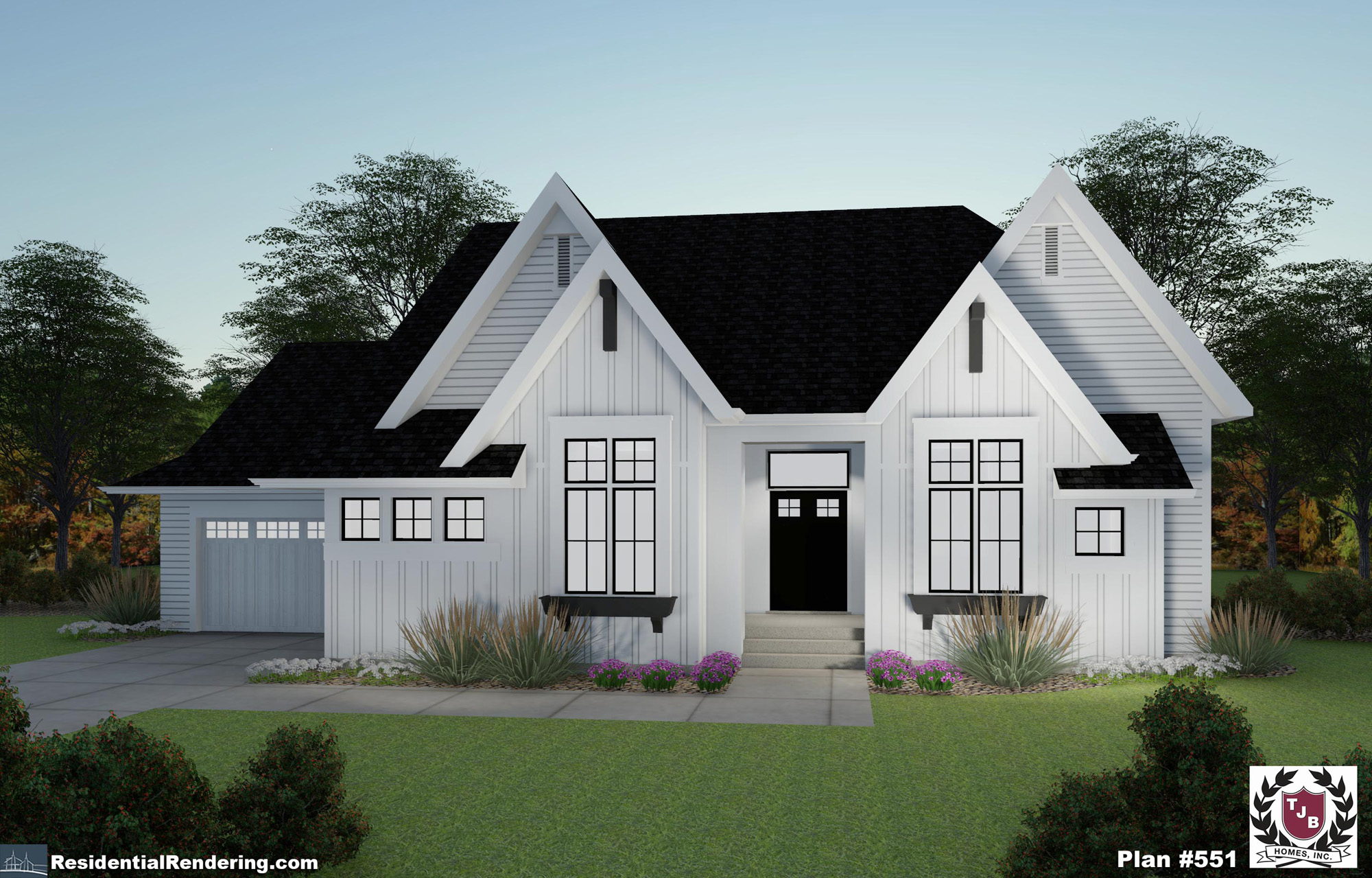 Home Front Plan Color Rendering