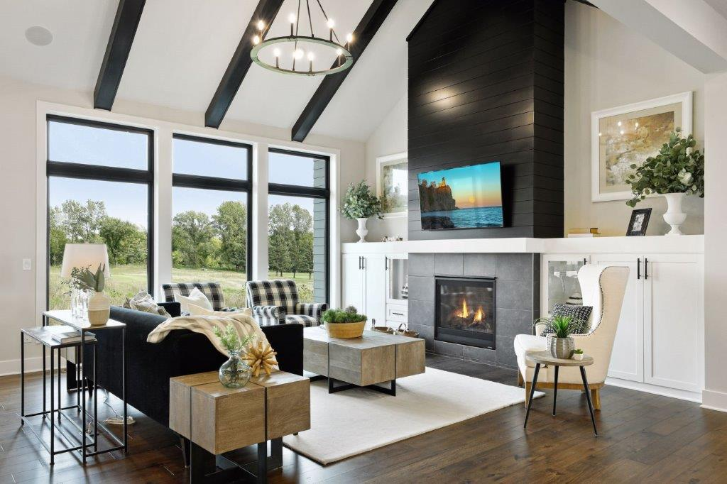 Great room with views of the golf course
