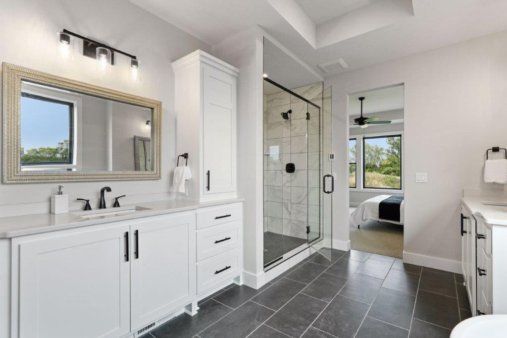Owners' ensuite custom cabinets