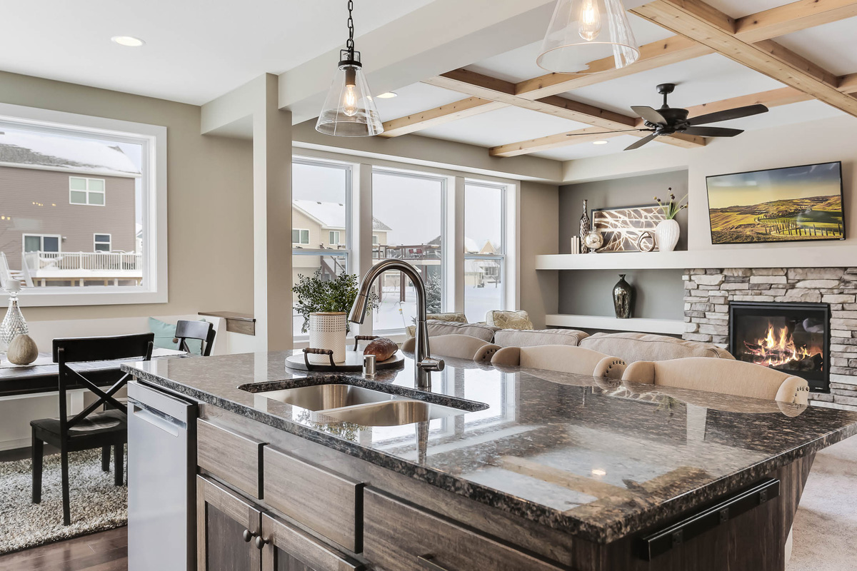 Family friendly kitchen island