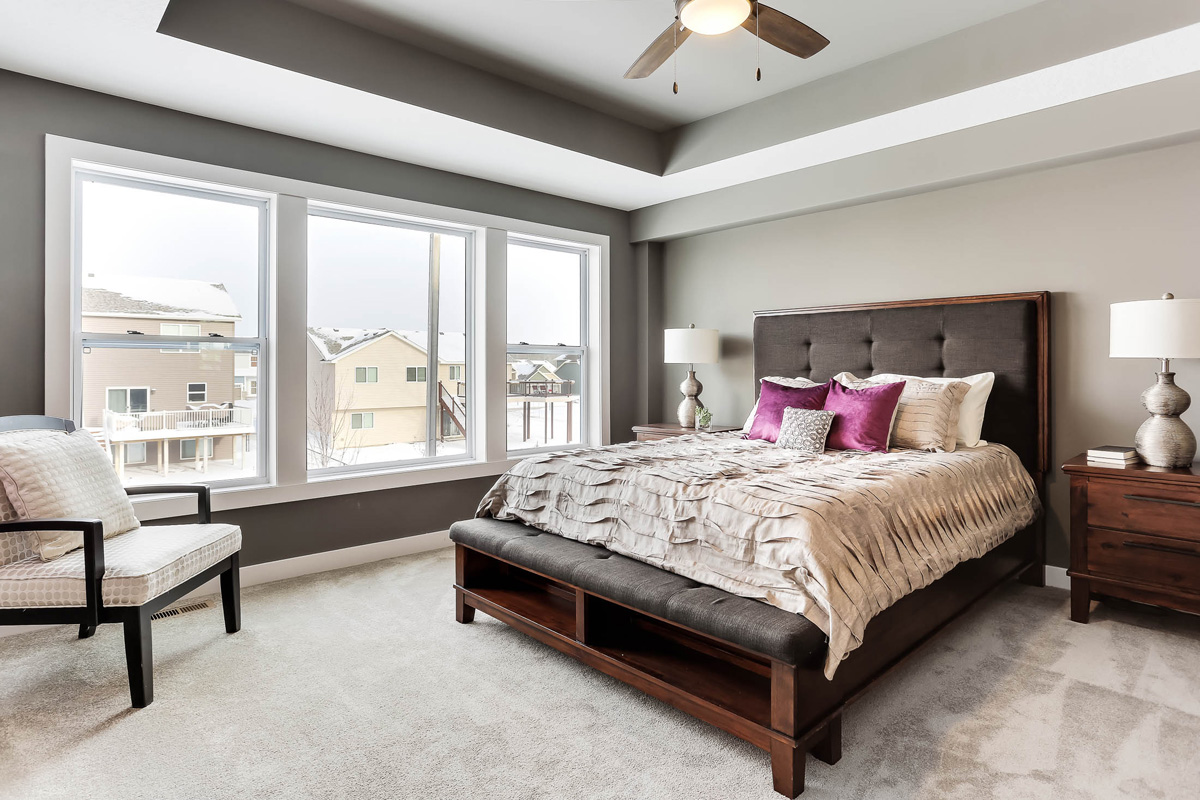 Great Master Suite has large windows for natural light