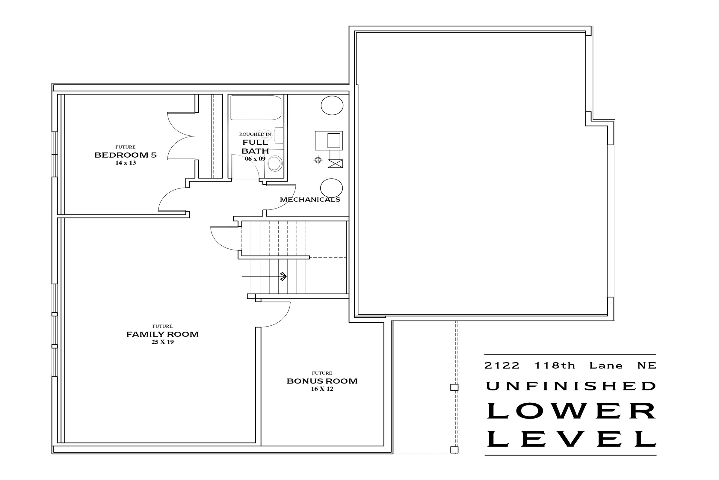 TJB Maddy Home Plan #360 Lower Floor Plan