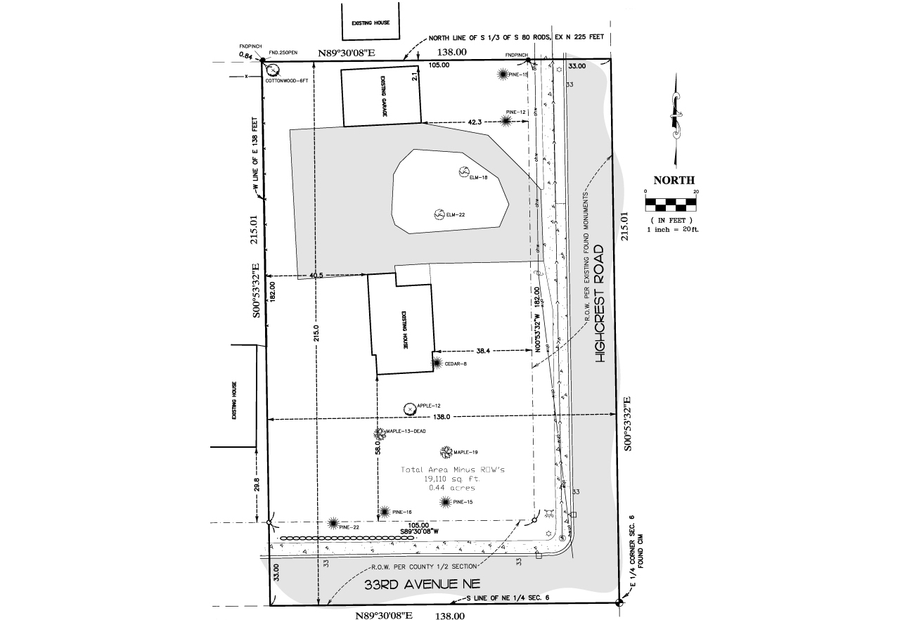 3713 33rd Ave NE Saint Anthony Lot Survey